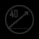 40% incline icon