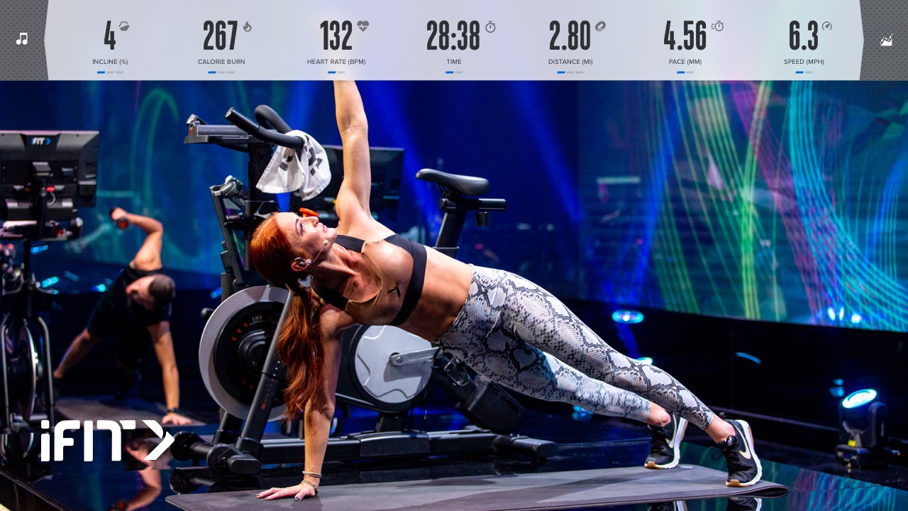 The iFIT bike workouts on the NordicTrack S22i are super fun. You don't often get to pedal crazily behind a world-class mountain biker as she...takes jumps in one of the best mountain bike parks in the world.