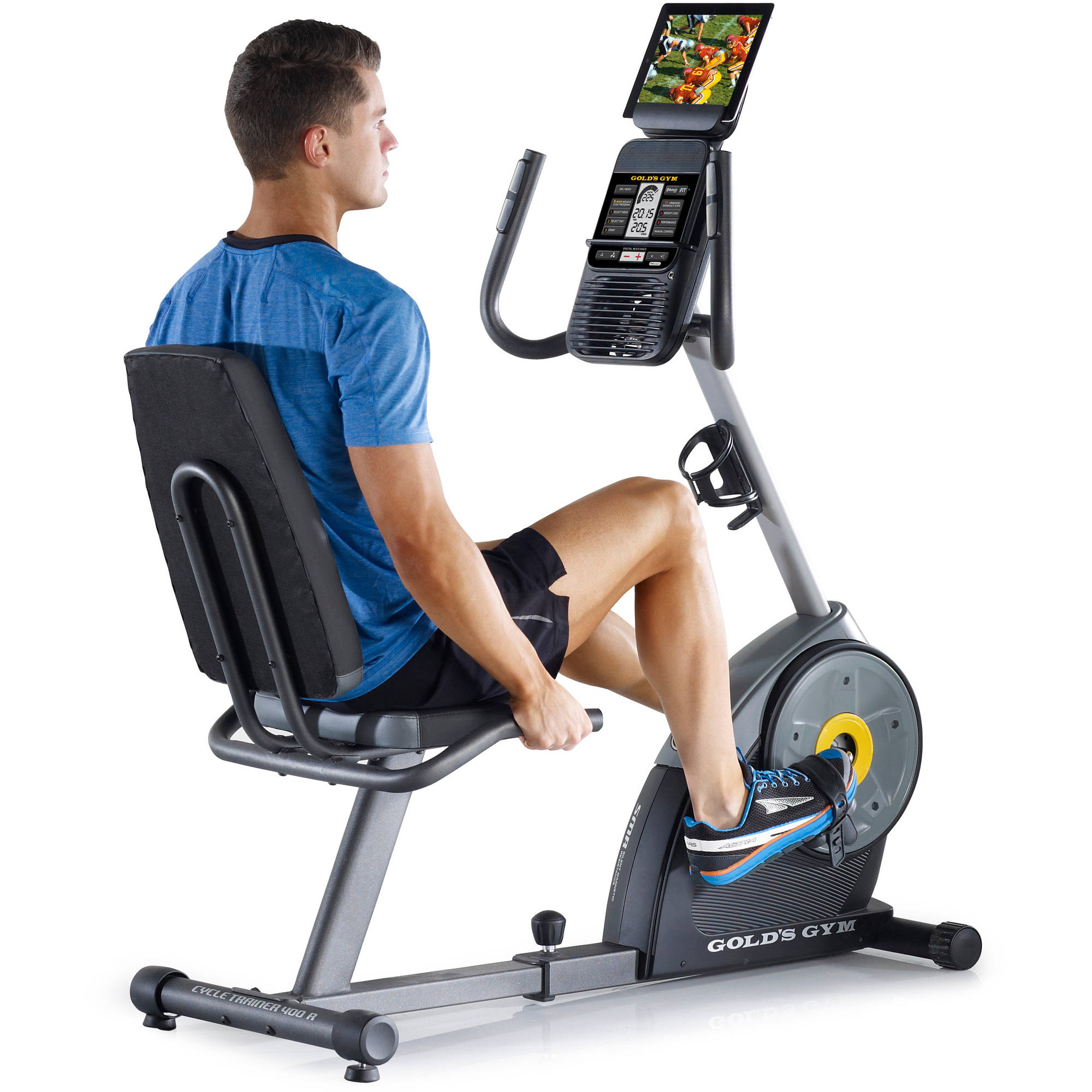 Workout Warehouse Exercise Bikes Gold's Gym Cycle Trainer 400 Ri Exercise Bike  gallery image 3