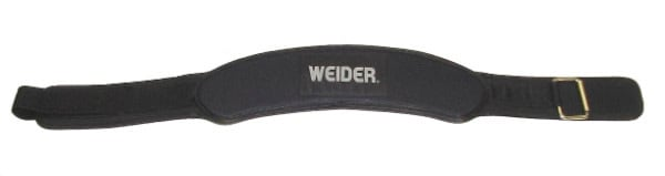 "Workout Warehouse Accessories Weider 4"" Contour Foam Belt (S/M) Hook and Loop Strap with D-ring.  Padded for Comfortable Support.  Easy Size Adjustment"