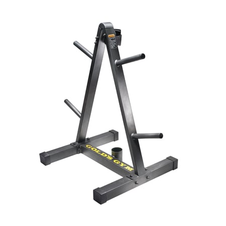 Workout Warehouse Accessories Gold's Gym Weight Plate and Barbell Storage Rack