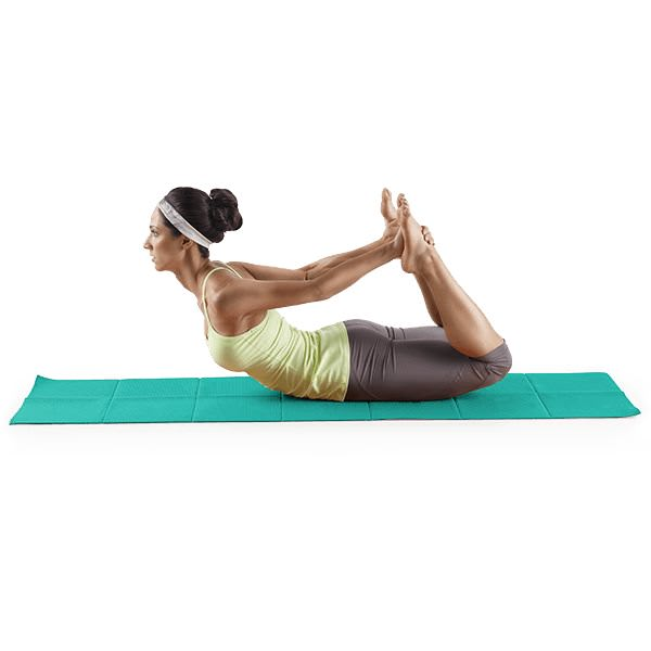Proform Lotus™ Folding Yoga Mat-Blue gallery image 3