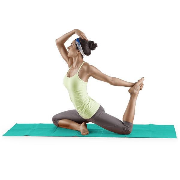 Proform Lotus™ Folding Yoga Mat-Blue gallery image 5