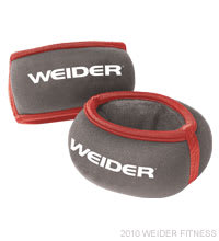 Weider Fitness Two 1 lb. Wrist Weights Accessories