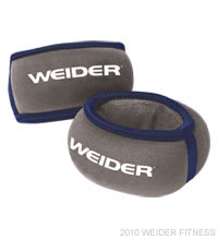 Weider Fitness Two 2 lb. Wrist Weights Accessories