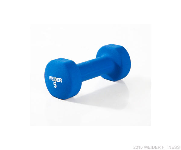 Weider Fitness Free Weights 5 lb. Neoprene Dumbbell