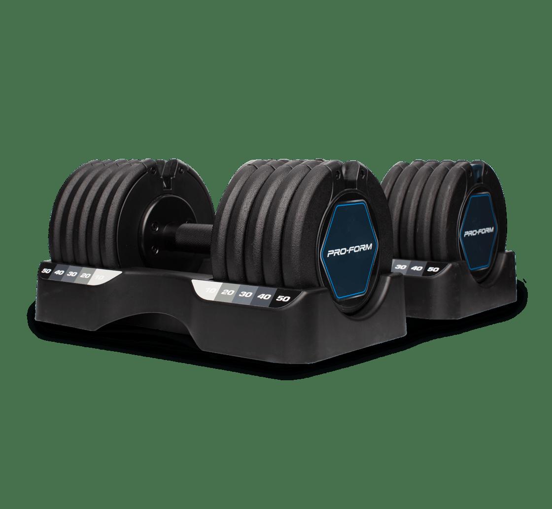 ProForm Rapid Strike 50 Lb. Adjustable Dumbbell Set Strength Rapid Strike 50 Lb. Adjustable Dumbbell Set