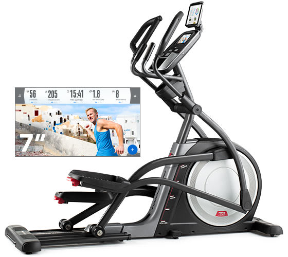 ProForm SMART Pro 12.9 Ellipticals Touchscreen on elliptical.