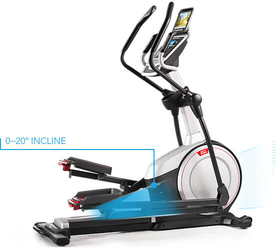 ProForm Endurance 720 E Ellipticals Elliptical showing incline.