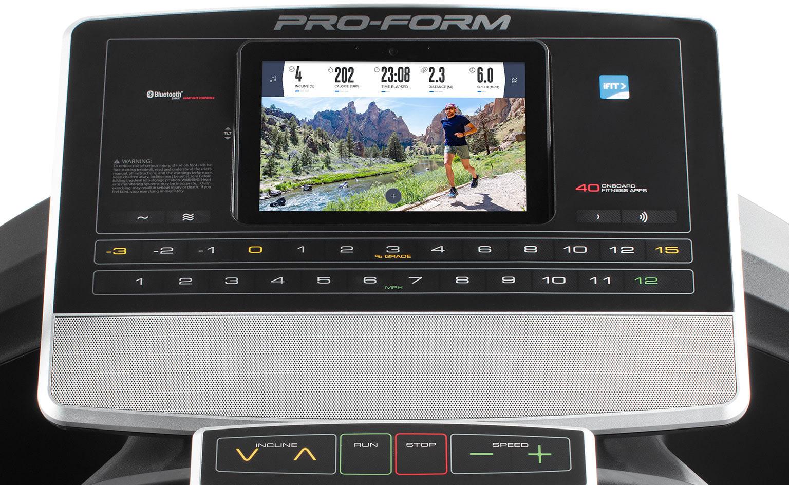 console image for the SMART Pro 9000 treadmill