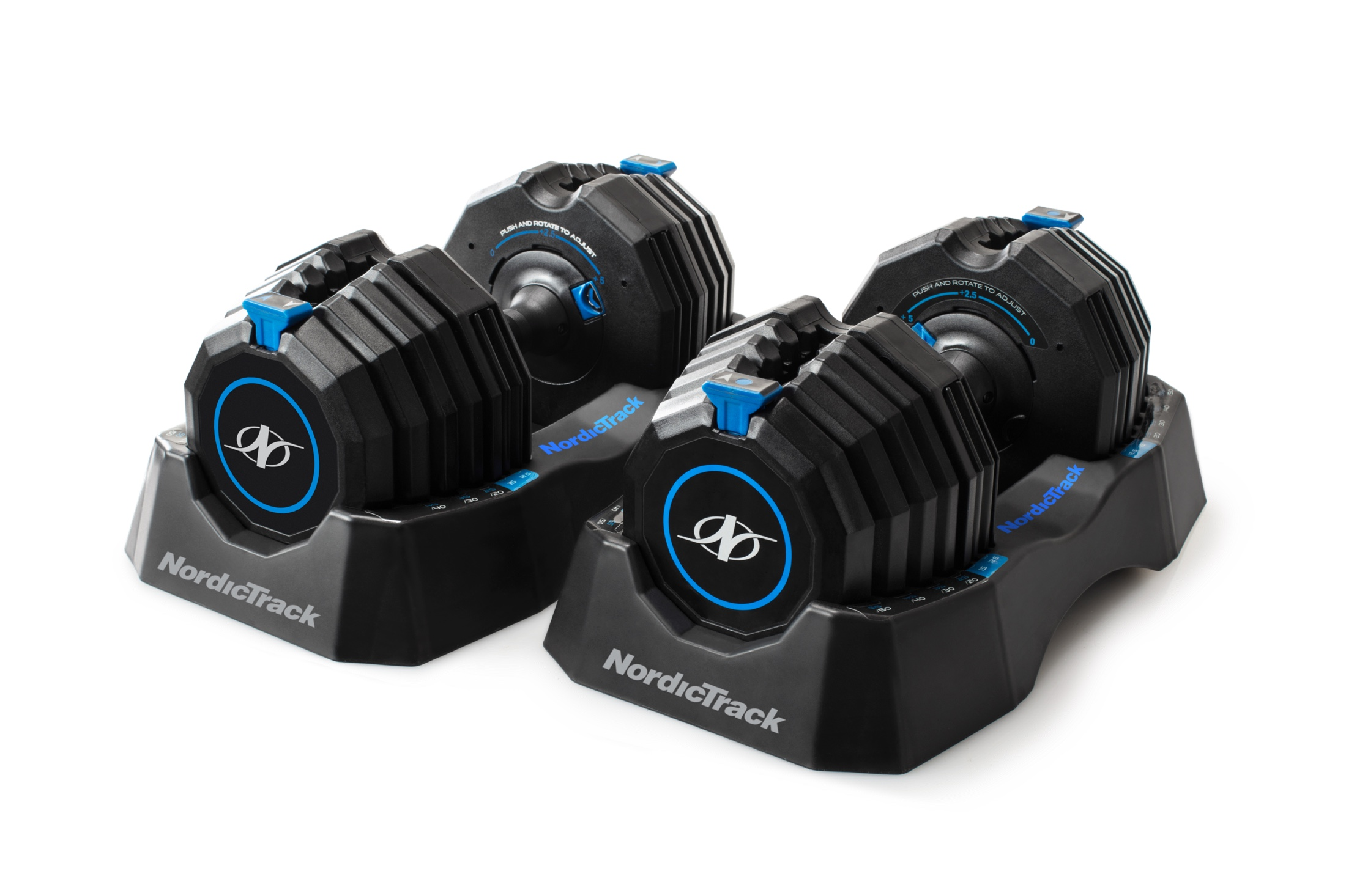 NordicTrack Select-A-Weight 55 Lb. Dumbbell Set gallery image 1