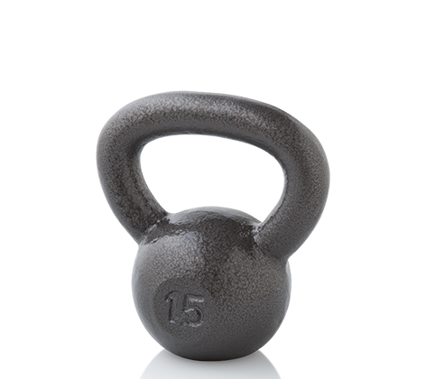 Workout Warehouse Accessories Gold's Gym 15 lb. Kettlebell