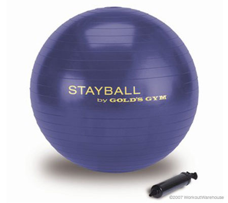 Workout Warehouse Accessories Gold's Gym 65cm Stay Ball