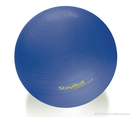Workout Warehouse Accessories Gold's Gym 65 cm Anti-Burst StayBall™