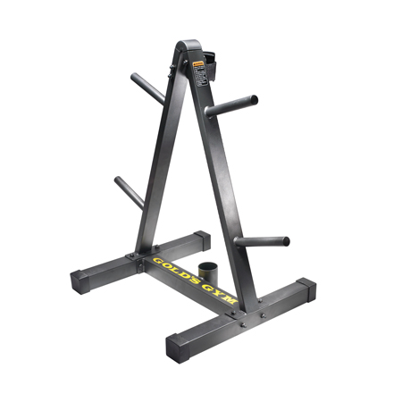 Get Gold's Gym Accessories Weight Plate and Barbell Storage Rack
