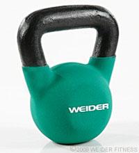 Weider Fitness Green Kettle Bell (15 lbs) Kettle Bells