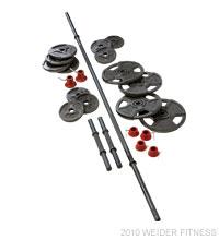Weider Fitness 100 lb. Cast Iron Weight Set Free Weights