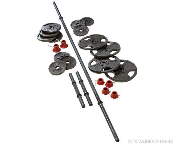 Weider Fitness Free Weights 100 lb. Cast Iron Weight Set