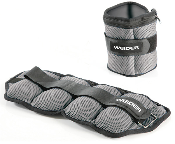 Weider Fitness Accessories Two 5lb. Adjustable Ankle Weights