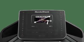 EXP 7i Treadmills console