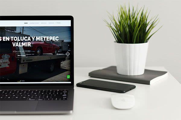 Grúas Valmir - Diseño de Página Web