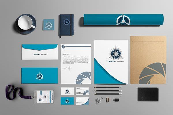 LenteDrone - Identidad Corporativa y Diseño Web