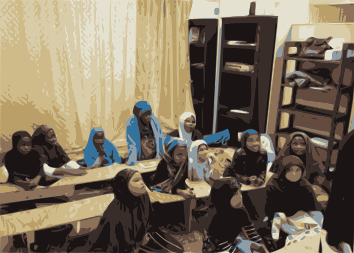 children reading the quran