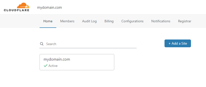 Cloudflare Site Active