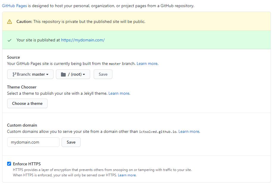 GitHub Site Published