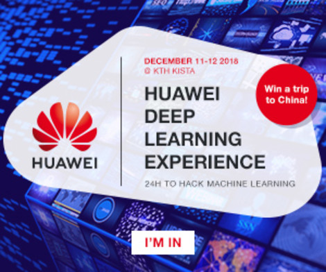 Huawei Deep Learning Experience - Hackathon in Stockholm