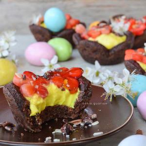 Cestini di frolla al cacao e crema pasticcera furba - Sonietta Gipsysoul