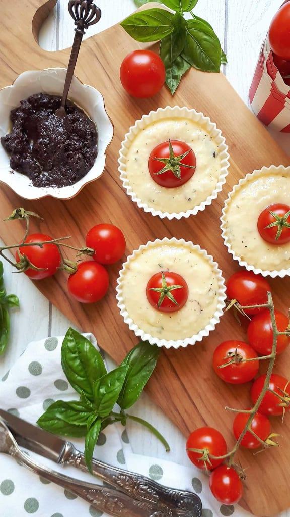muffin salati prima della cottura