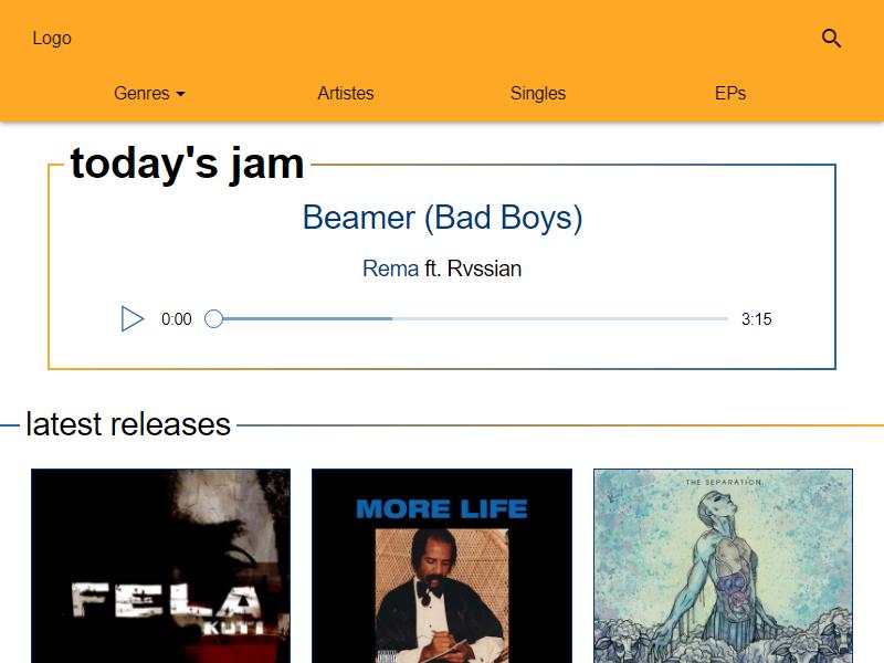 undiluted music landing page screenshot