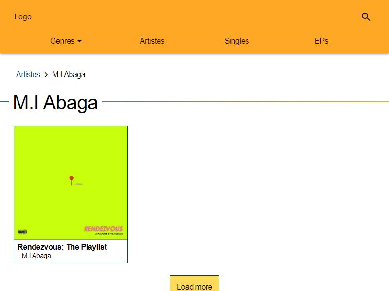 undiluted music mi abaga page screenshot