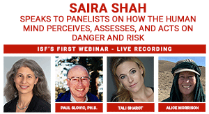 WATCH ISF'S FIRST LIVE ONLINE WEBINAR EVENT - RISK, HOSTED BY SAIRA SHAH