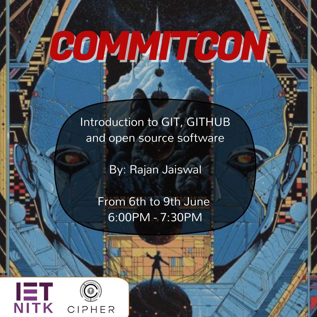 CommitCon Theme Poster
