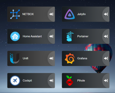 Heimdall dashboard