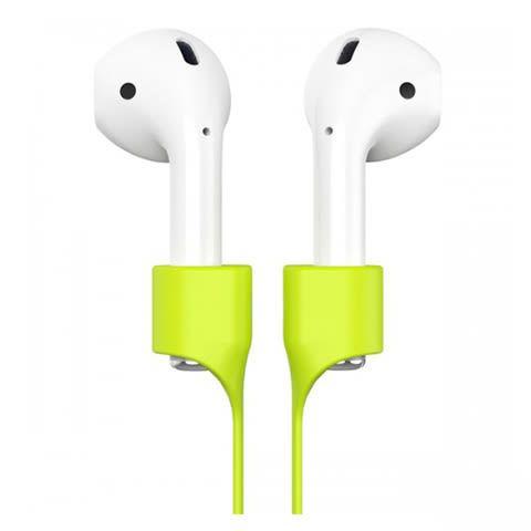 Держатель Baseus Earphone Strap для наушников Apple Airpods зеленый
