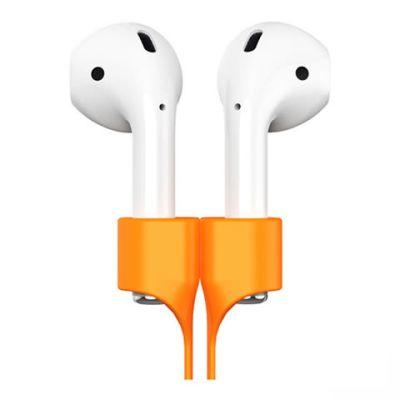 Держатель Baseus Earphone Strap для наушников Apple Airpods оранжевый