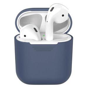 Чехол Silicone Case для наушников Apple Airpods синий