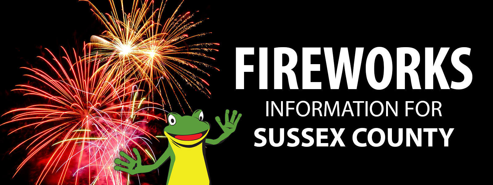 Fireworks Information for Sussex County - Header Image