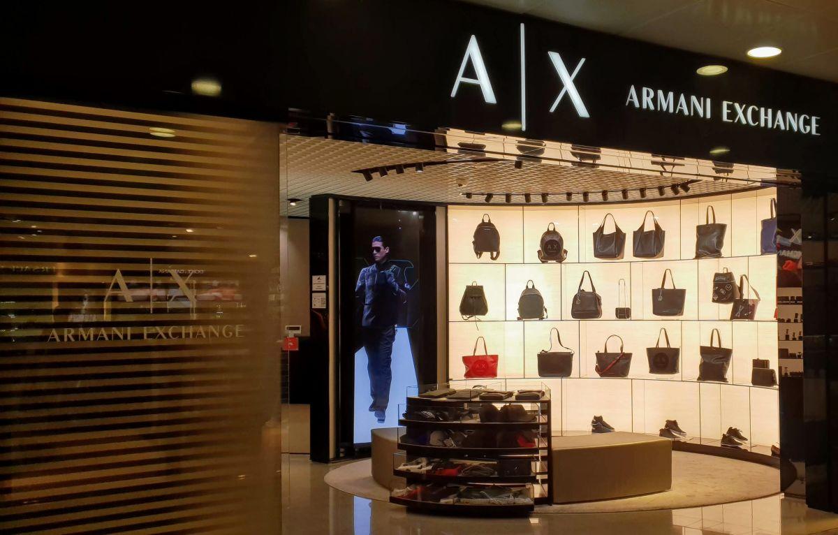 חנות ארמני אקסצ'נג' בשדה בקייב - קניות בזמן קונקשן