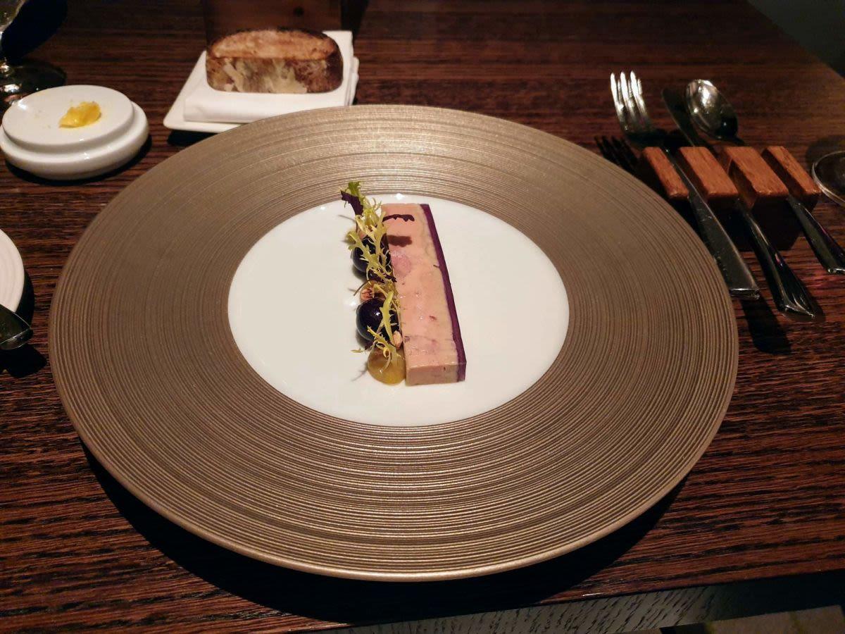 מנת כבד אווז - מסעדת מישלן, אנגליה