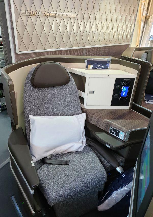 מושב מחלקת עסקים ב-787 של אל על