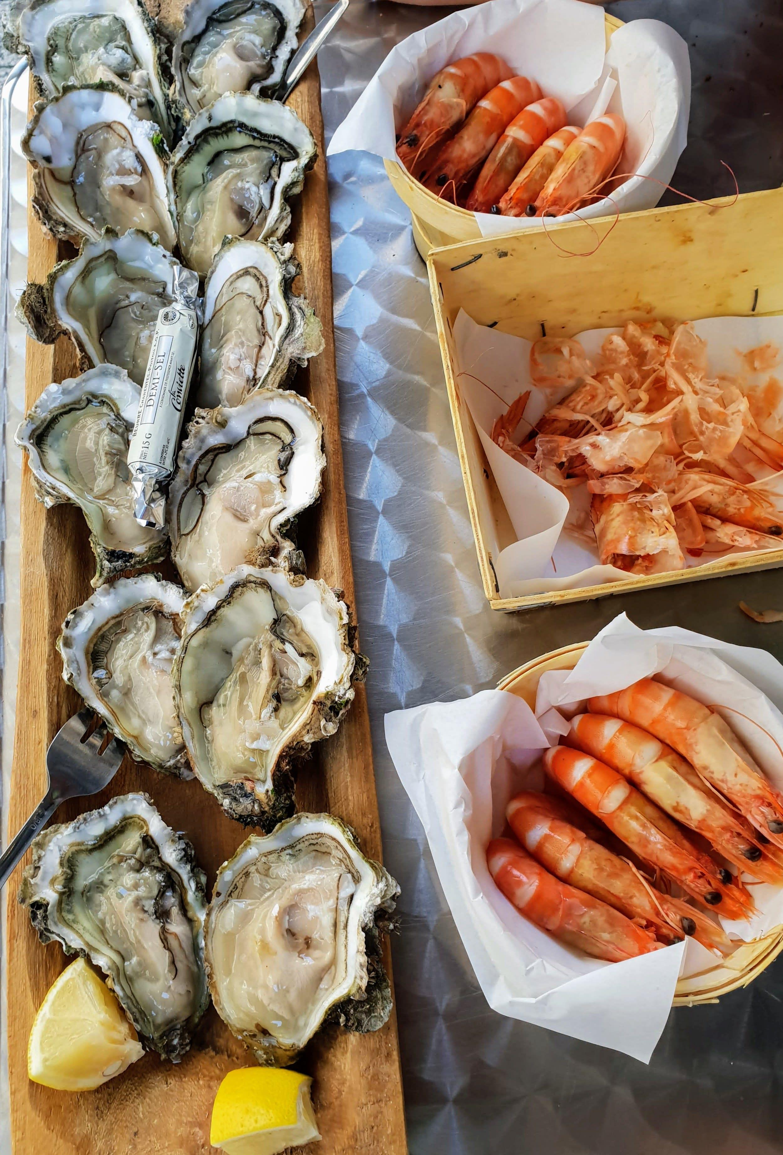 פירות ים במסעדת Le Comptoir Saoufé בלה רושל
