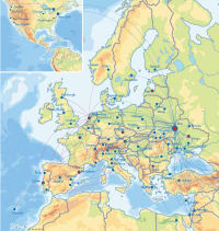 מפת יעדי UIA לטיסות ישירות וקונקשן דרך קייב