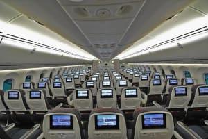 מחלקת תיירים במטוסי ה-787 של אייר קנדה בטיסות לישראל