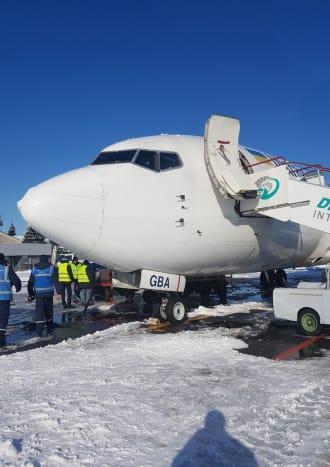 מטוס UIA מכוסה שלג