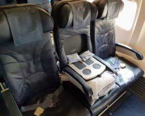 מושבי ביזנס במטוס 737-800 של יוקריין אייליינס