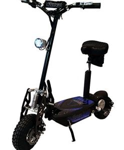 Black-Super-Turbo-1000watt-Elite-36v-Electric-Scooter-with-EconoTurbo-Mode-Button-0